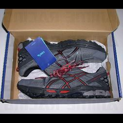 NEW NiB ASiCS GEL KAHANA 8 RUNNiNG SNEAKERS SHOES GRAY BLACK