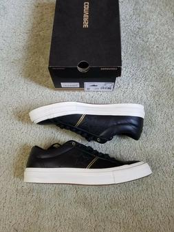 NEW Converse One Star Ox Black White Gold Egret Low Top Leat