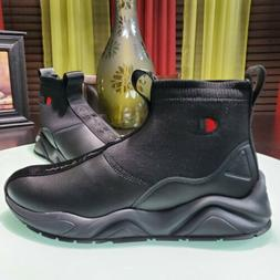 New CHAMPION Rally Leather Hi Top Athletic Sneakers triple b