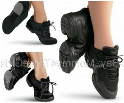 NEW Sansha Capezio Balera Black Jazz Hip Hop Dance Sneakers
