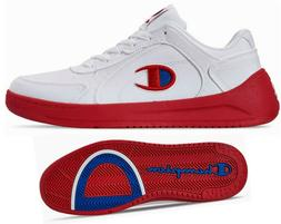 New CHAMPION Super Court Low Mens Shoes Sneakers white red