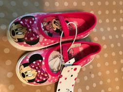NEW Toddler Girls Disney Minnie Mouse Pink Canvas Sneakers S