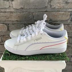 New PUMA Vikky V2  White Leather Sneakers Athletic Shoes Com