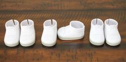 "NEW WHITE SNEAKERS for 18"" American Girl Boy Dolls Sports Sh"