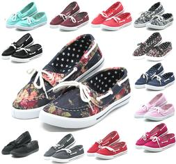New Women Canvas Loafers Shoes Flats Oxford Fashion Casual S