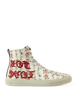 New GUCCI Women Major 'Blind for Love' Floral Print High Top