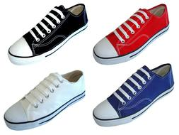 New Women's Canvas Sneakers Classic Lace Up Fashion Shoes Co