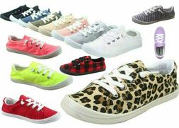 NEW Women's Causal Slip On Lace Up Look Conform Sneaker Shoe