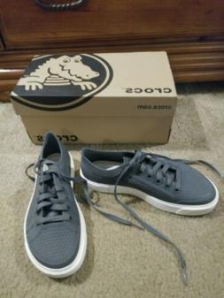 New Women's Crocs Citilane Roma Court Gray Sneakers