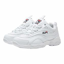 New Fila Women's Disarray White Leather Synthetic Sneakers S