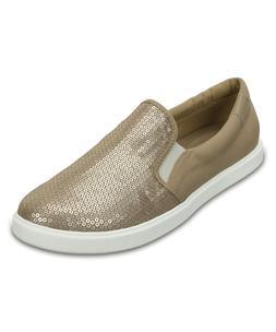 NEW Women's Crocs Gold Citilane Sequin Slip On Sneaker Loafe