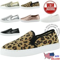 NEW Women's Round Toe Slip On Sneaker Comfort Cushioned Quil