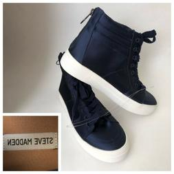 New Steve Madden Women's Sneakers 8.5 High Top Shoes Blue Sa
