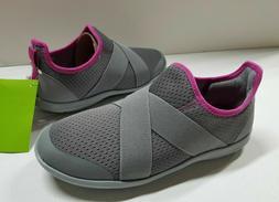 New Women's Crocs Swiftwater Cross-Strap Slip-On Sneaker Sho