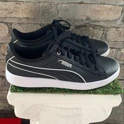 New Women's PUMA Vikky V2 Black White Leather Sneakers Athle