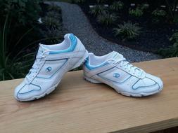 '' NEW '' Champion Women White & Blue Walking Shoes Sneakers