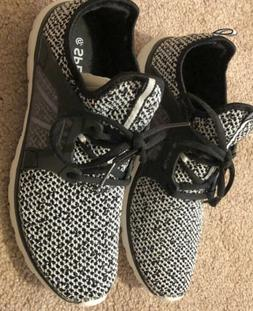 New Women's Speedknit By Champion Sneakers Black and White