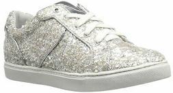 New The Fix Womens Tawney Silver Fashion Sneaker Size 9