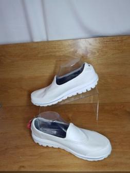 NEW Skechers Go Walk Womens White Cloth Slip On  Walking Sne