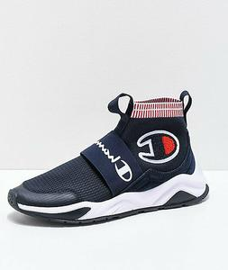 NIB CHAMPION MEN'S RALLY PRO SNEAKERS IN NAVY CM100022M SIZE