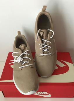 NIB!!Nike Men's Roshe Run Casual Sneakers In Sand & Black  M