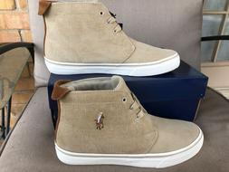 NIB POLO RALPH LAUREN MEN'S TALIN CORDUROY HIGH TOP SNEAKERS