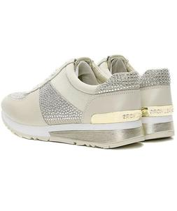 NIB Size 5 MICHAEL KORS Allie Trainer Leather Sneaker Pale G
