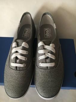 NIB Keds Sweatshirt Jersey Gray/White Woman's Shoes Sneakers