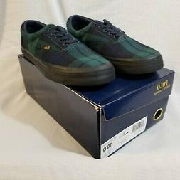 NIB Polo Ralph Lauren Tartan Thorton Men's Shoes Black Size