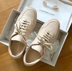 NIB Woman by Common Projects BBall Leather Low Top Sneakers