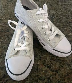 NICE MEN'S AIRWALK LACE UP LOW CANVAS SNEAKERS GRAY/WHITE SH