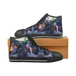 Nightmare Before Christmas Lace Up Sneakers High Top Canvas