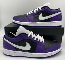 Nike Air Jordan 1 Low Court Purple White Black 553558-501 Re