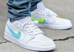 Nike Jordan 1 Low Retro Mens Shoes Sneakers Multi-Color Swoo