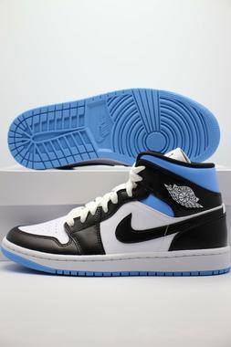 Nike Air Jordan 1 Mid University Black White Blue BQ6472-102