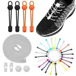 No Tie Lock Shoelaces Elastic Shoe Laces String For Kids Adu