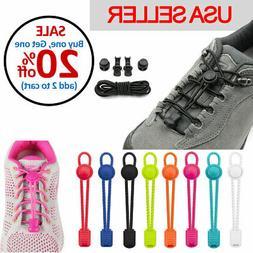 No Tie Shoelaces Elastic Lock Shoe Laces Running Jogging Can