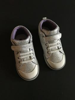 NWB See Kai Run Payton Silver Glitter Hightop Sneaker Little