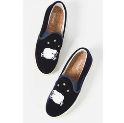 NWOB Soludos Velvet Sheep Slip-On Sneakers Original Retail P