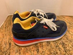 NWOT Crocs 14382 Retro Causal Sneaker Blue Yellow Red Women'