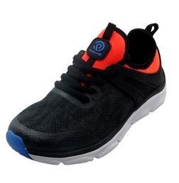 NWT - C9 Champion Boys Black/Orange Connect 5 Knit Running S