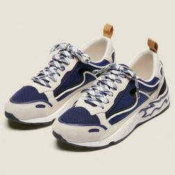 NWT Sandro Flame Sneakers in Deep Navy Size 39 Retail $295