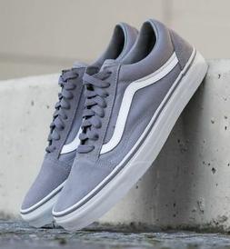 Vans Old Skool Frost Gray Mens Womens Sneakers Suede Skate S