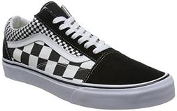 Vans Unisex Old Skool Skate Shoes Checkers/Black/True White
