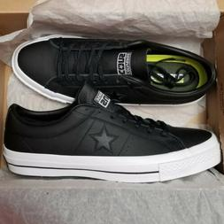 Converse One Star Ox Leather Black White Low Top Sneakers