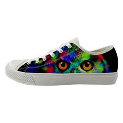 Owl Cool Casual Canvas Shoes for Womens High Top Sneakers Gi