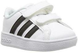adidas Performance Unisex-Kids Baseline Sneaker, White/Black