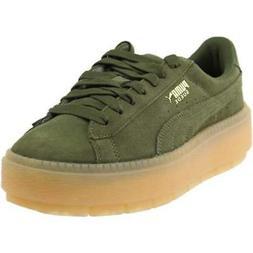 Puma Platform Trace Sneakers Casual    - Green - Womens
