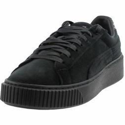 Puma Platform Velvet Crushed Gem Sneakers - Black - Womens