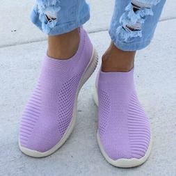 Plus Size 43 Sneakers Women Stretch Fabric Socks Shoes Woman